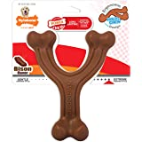 Nylabone Ergonomic Hold & Chew Wishbone Power Chew Durable Dog Toy Bison Flavor