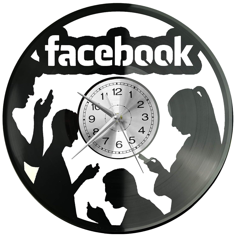 WoD Facebook - Reloj de Pared (Vinilo), diseño Retro: Amazon ...