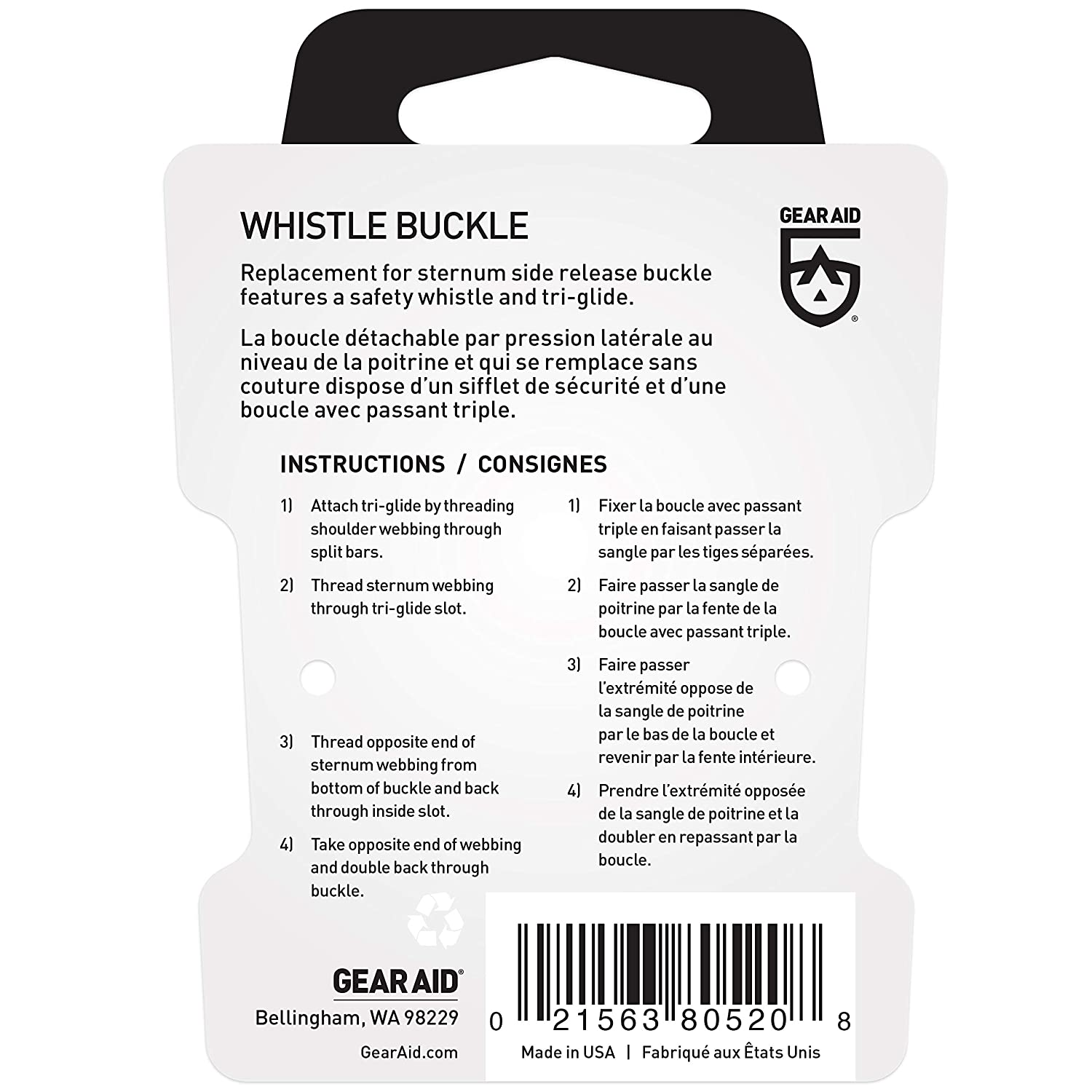 """McNett Gear Aid Quick Attach Buckle Kit For 3//4"""" Webbing"""