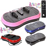 Gym Master 2700W Crazy Fit Vibration Massage Plate With MP3 Bluetooth Speaker & Touch Panel - Choice Of Colours