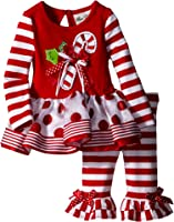 Amazon Com Rare Editions Girls Candy Cane Holiday Dress