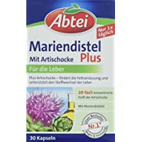 Abtei Mariendistelöl Plus Artischocke mit Vitamin E Kapseln, 30 Stück