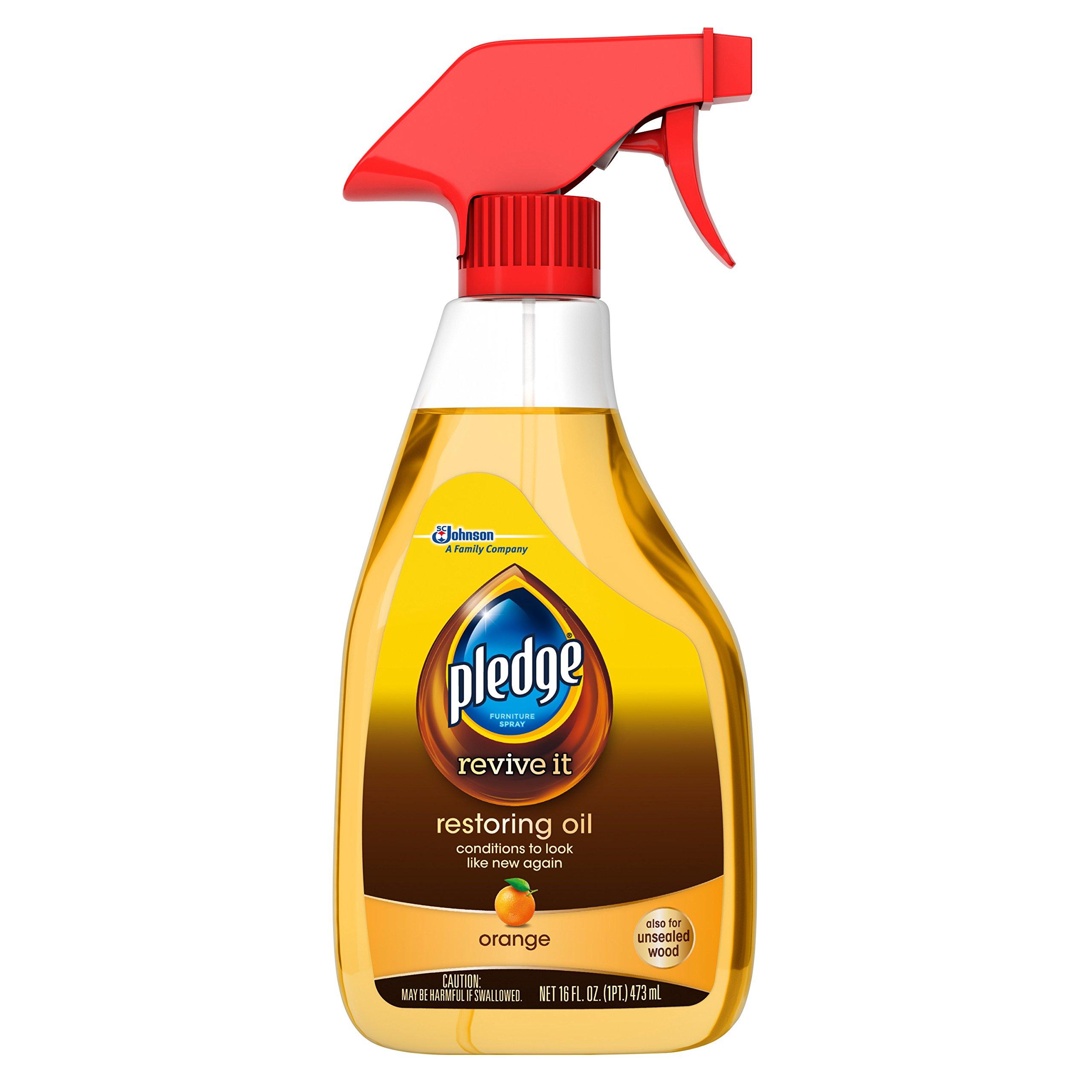 Pledge Orange Restoring Oil Trigger Wood Polish, 16 Fl Oz