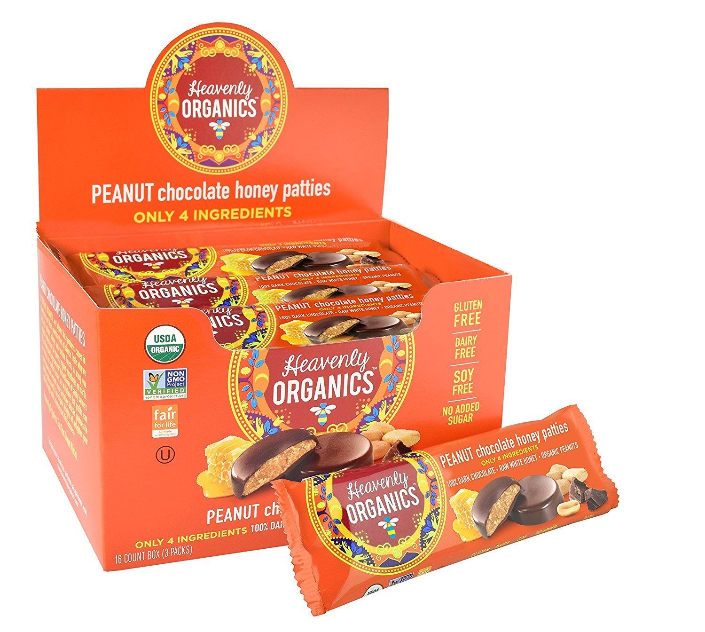 CDM product Heavenly Organics Peanut Chocolate Honey Patties, 33g, Pack of 3 big image