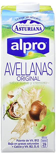 Alpro Central Lechera Asturiana Bebida de Avellana - Paquete de 8 x 1000 ml - Total