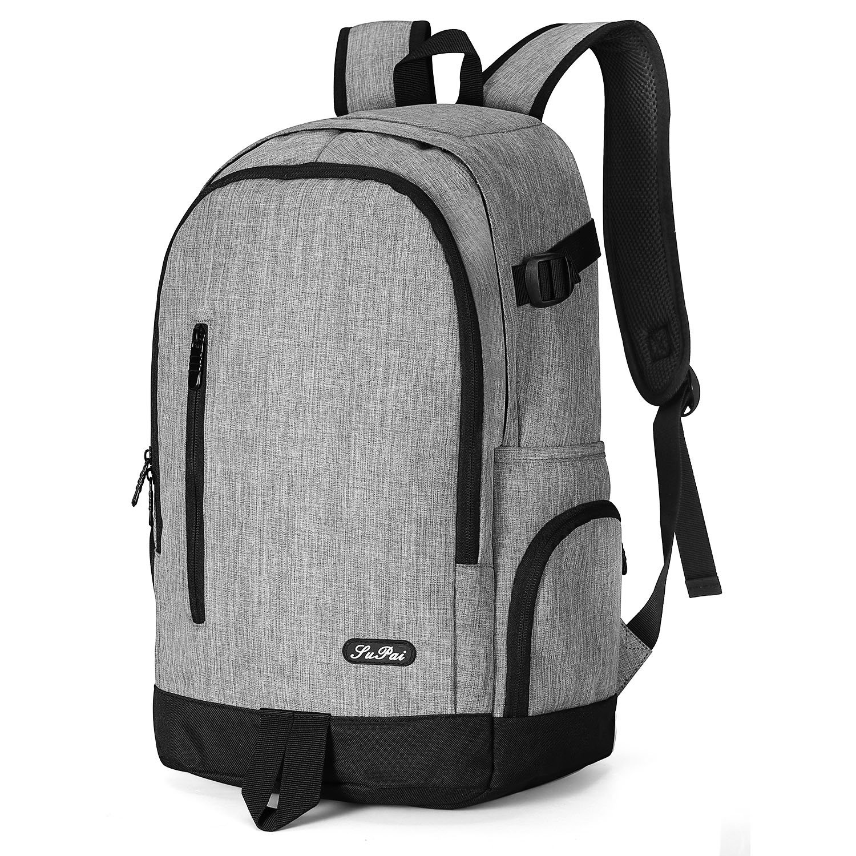 YAMTION Mochila Hombre Mochilas Escolares Juveniles Adolescentes Mochila para Ordenador Portá til 15,6' Laptop Backpack, Mochila Escolar Mochila Portatil 35L (Azul Oscuro) 6 Laptop Backpack