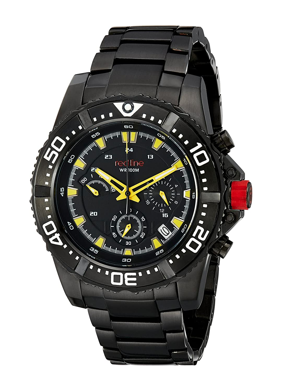 Red Line – rl-50030vk-bb-01yl – Armbanduhr – Quarz Chronograph – Armband Edelstahl schwarz