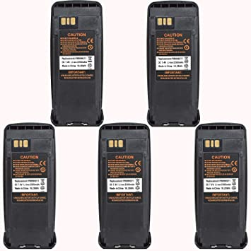 5x Battery Replacement for Motorola Portable Radio XPR 6350 XPR 6380 XPR 6550