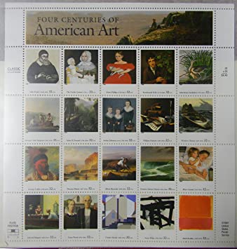 Amazon.com: Four Centuries Of American Art Sheet Of 20 32 Cent ...