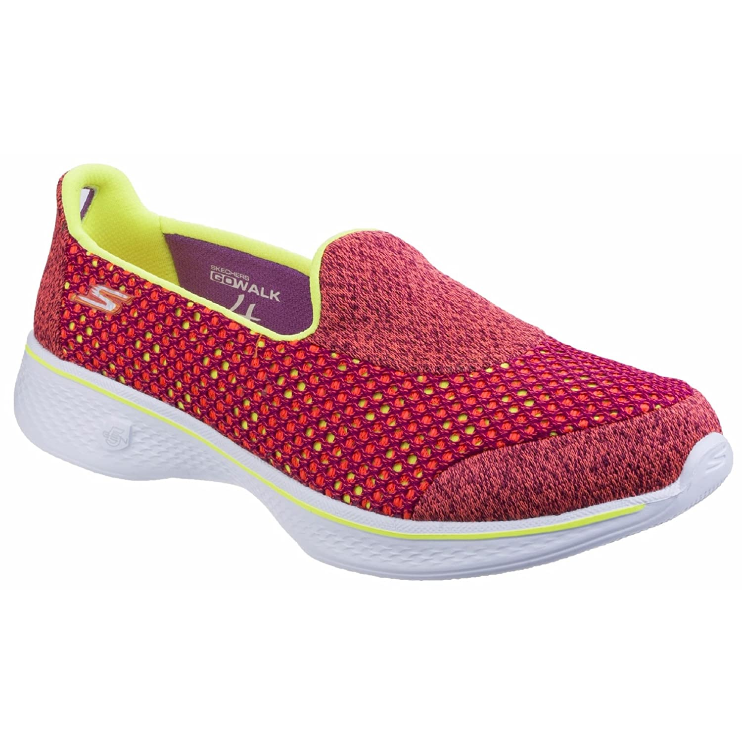 66998001c Skechers Womens Ladies SK14145 Go Walk 4 Kindle Slip On Shoes (6 UK)  (Pink Lime)  Buy Online at Low Prices in India - Amazon.in