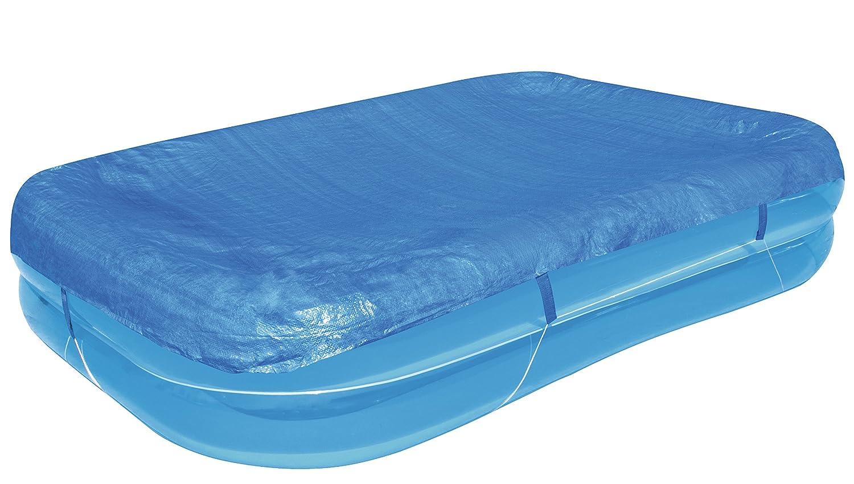 Bestway Flowclear PE-Abdeckplane für rechteckigen Family Pool 262 x 175 x 50.5 cm, blau 58319-XGLX16XX02