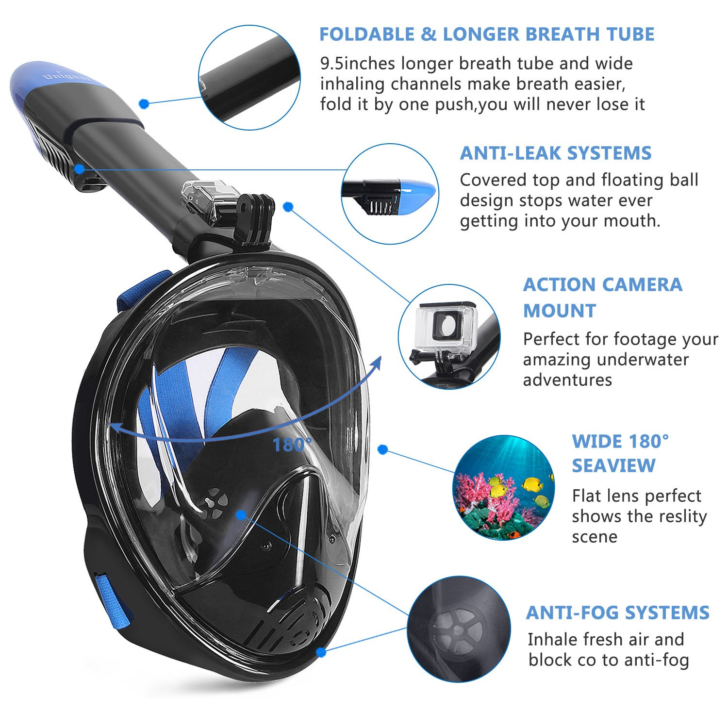 c2aaec8ad Best Full Face Snorkel Mask 2018 - Reviews   Buyer s Guide