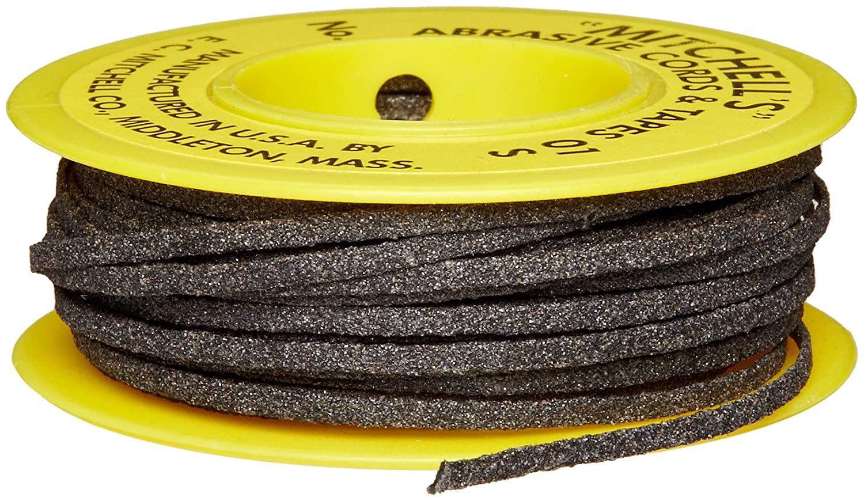 Mitchell Abrasives 01-S Flat Abrasive Tape, Silicon Carbide 180 Grit 1/16' Wide x 50 Feet Silicon Carbide 180 Grit 1/16 Wide x 50 Feet E.C. Mitchell Inc.