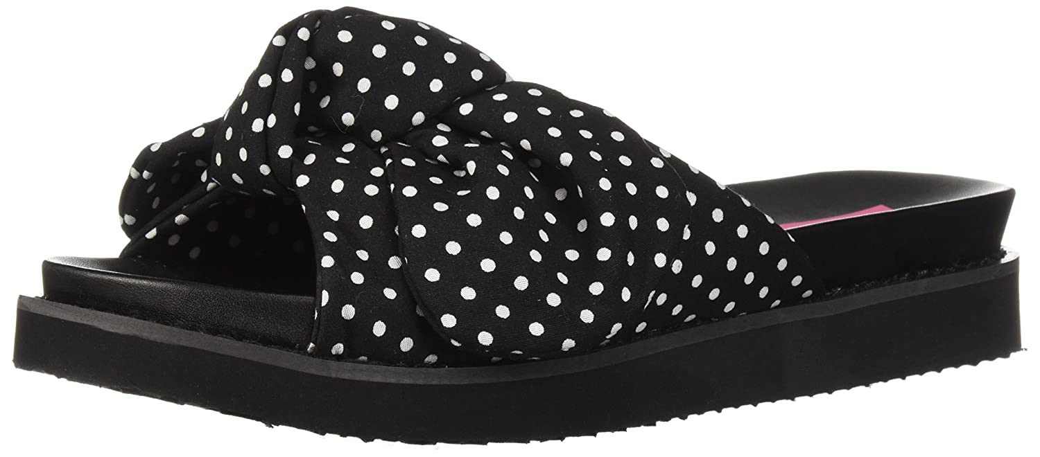 Betsey Johnson Women's June Slide Sandal B076XNS47X 7 B(M) US|Black/Polka Dot