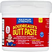 Boudreaux's Butt Paste Diaper Rash Ointment | Maximum Strength | 14 oz. Jar | Paraben & Preservative Free