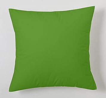 ESTELA - Funda de cojín Combi Lisos Color Verde - Medidas 40x40 cm ...