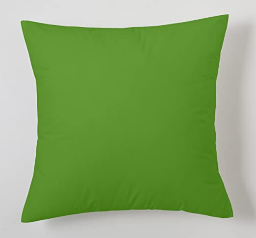 ESTELA - Funda de cojín Combi Lisos Color Verde - Medidas 40x40 cm. - 50% Algodón-50% Poliéster - 144 Hilos