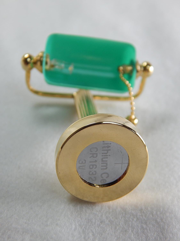 Heidi Ott Dollhouse Miniature LED Bankers Office Lamp Green Shade #YL1697