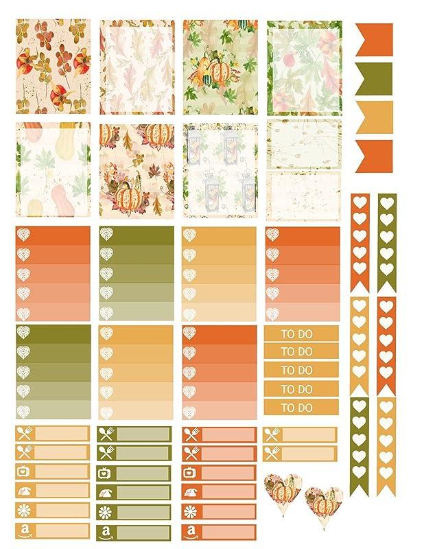 bujo Cute Autumn planner stickers erin condren Fall planner stickers