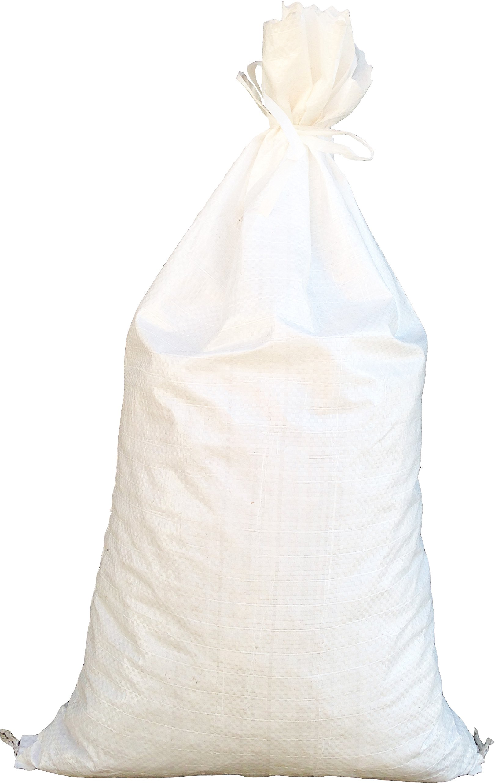 Sandbags for Flooding - Size: 18'' x 30'' - Color: White - Sand Bag - Flood Water Barrier - Water Curb - Tent Sandbags - Store Bags by Sandbaggy (100 Bags)