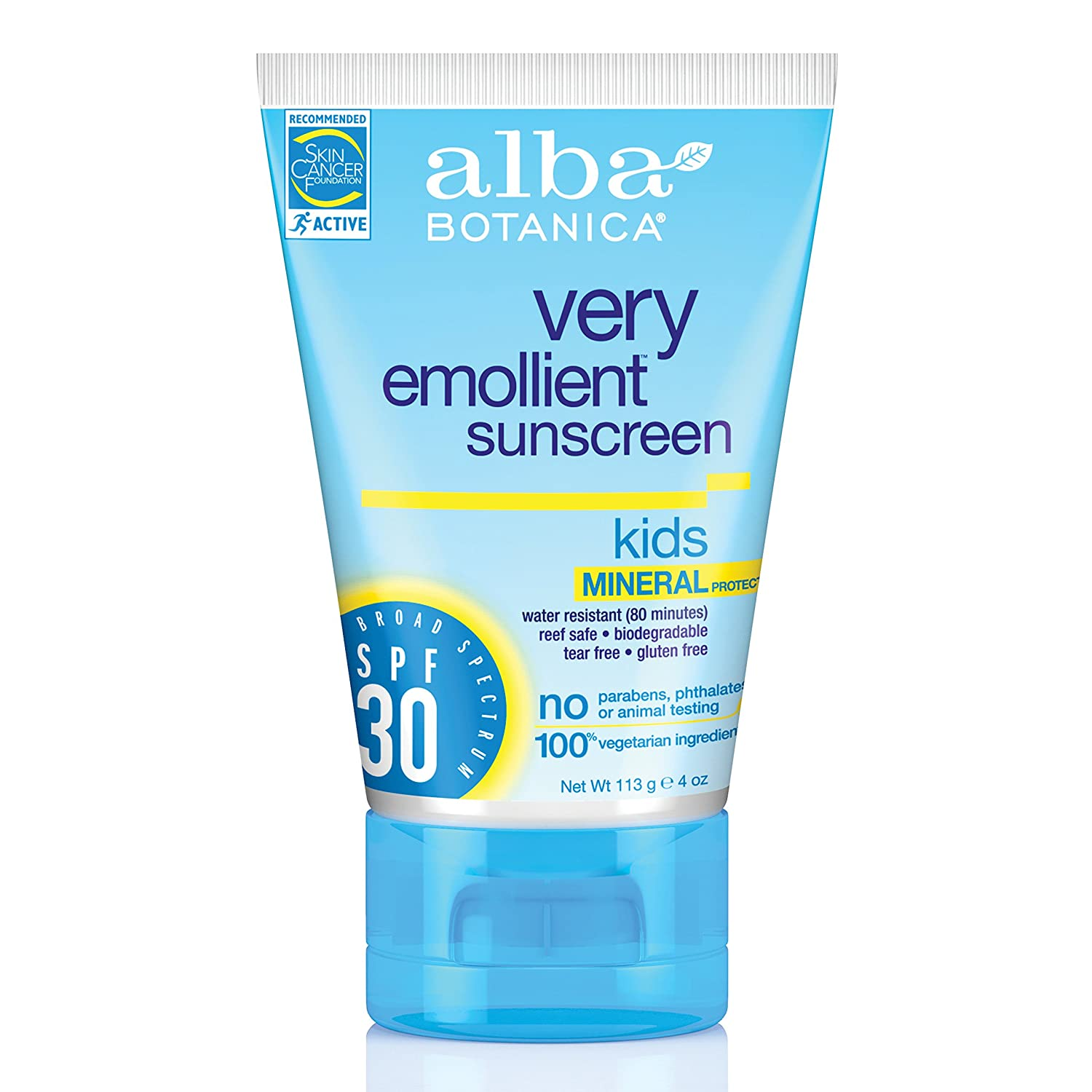 ALBA BOTANICA, Mineral Sunscreen Kids SPF 30-4 oz