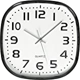 Amazon Com Seiko R Wave Wall Clock Silver Metallic Case
