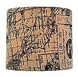 Royal Designs Linen Cream and Black Vintage Map