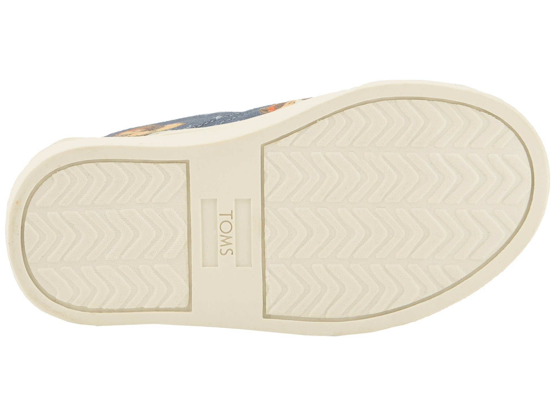 TOMS Girl's, Luca Slip on Shoes Blue 4 M by TOMS Kids (Image #4)