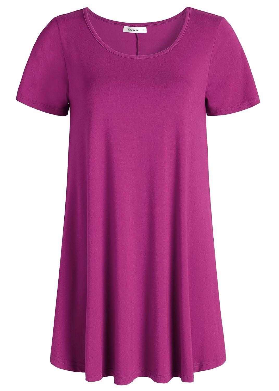 Boysenberry Esenchel Women's Tunic Top Casual T Shirt for Leggings