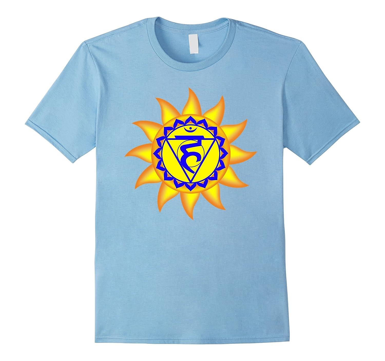 Big Yellow Sun with Vishuddha Chakra Yoga Tshirt-TH