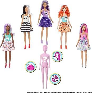 Amazon.es: Barbie Color Reveal, muñeca que revela sus colores con ...