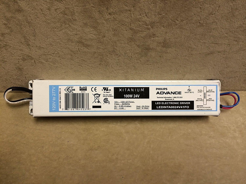 Philips Advance LEDINTA0024V41FO LED Driver 100 Watt 24V DC