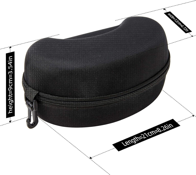 JOJO LEMON Ski Goggle Case,Hard EVA Snowboard Protection Carrying Box for Snow Sport Skiing