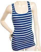 Zenana Womens Striped Racerback Ribbed Tank Top Shirt