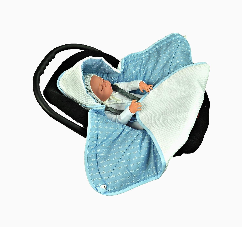Buggy oder Babybett,stylischer Silberfaden f/ür Kinderwagen MOMIKA Einschlagdecke Universal f/ür Babyschale White Autositz