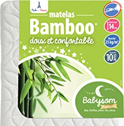 Matelas 60x120 ou 70x140 OEKO TEX Bamboo