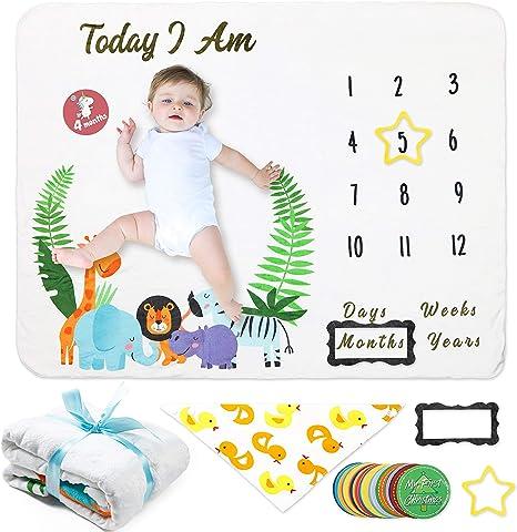 COUXILY Baby Meilenstein Decke Meilensteindecke Baby Monatliche Decke fü Bär