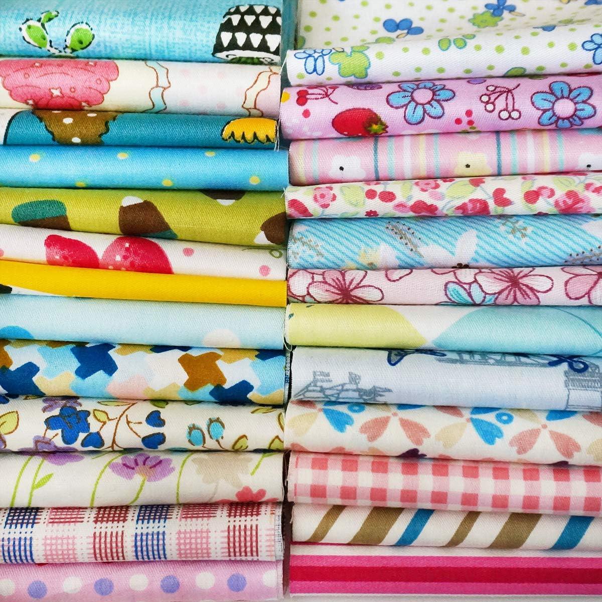 Pre-Cut Fat Quarter Bundle Cotton Quilt Fabric Sewing Patchwork Assorted DIY HOT