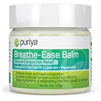 Puriya Chest Rub for Congestion Relief, Packed with Eucalyptus, Lavender, Tea Tree...