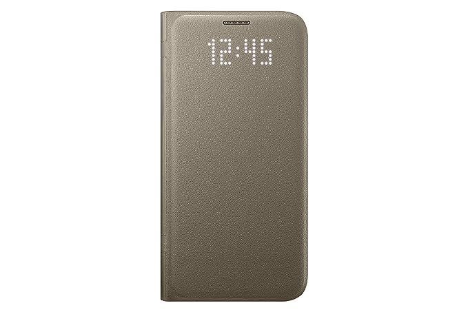 wholesale dealer 3de2d 86bb7 Samsung Galaxy S7 Case LED View Flip Cover - Gold