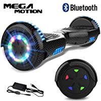 "Mega Motion Self Balance Scooter 6,5"" - 2018 Elektro Scooter E-Skateboard - Scooter - UL zertifizierten 2272 LED - Räder mit LED Licht -Bluetooth Lautsprecher – 700W Motor"