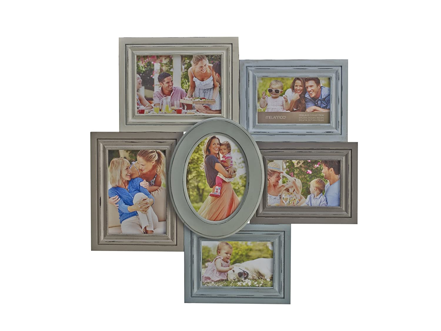 Amazon.com - MELANNCO 6-Opening Distressed Collage, 20.5-Inch-by ...