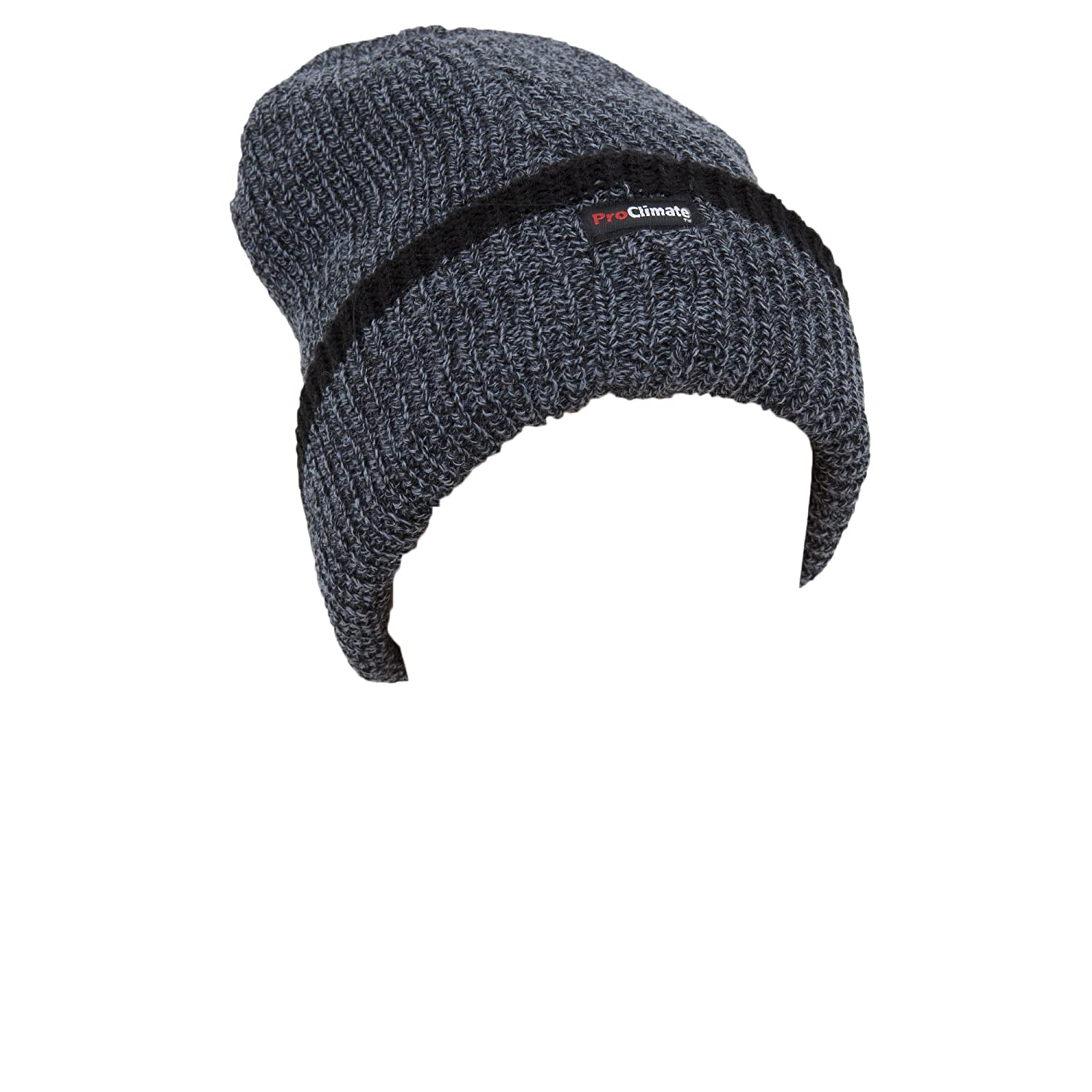 455550712c9 Universal Textiles Mens Thinsulate Knitted Thermal Heavy Winter Ski Hat (3M  40g) (One size) (Grey)  Amazon.co.uk  Clothing
