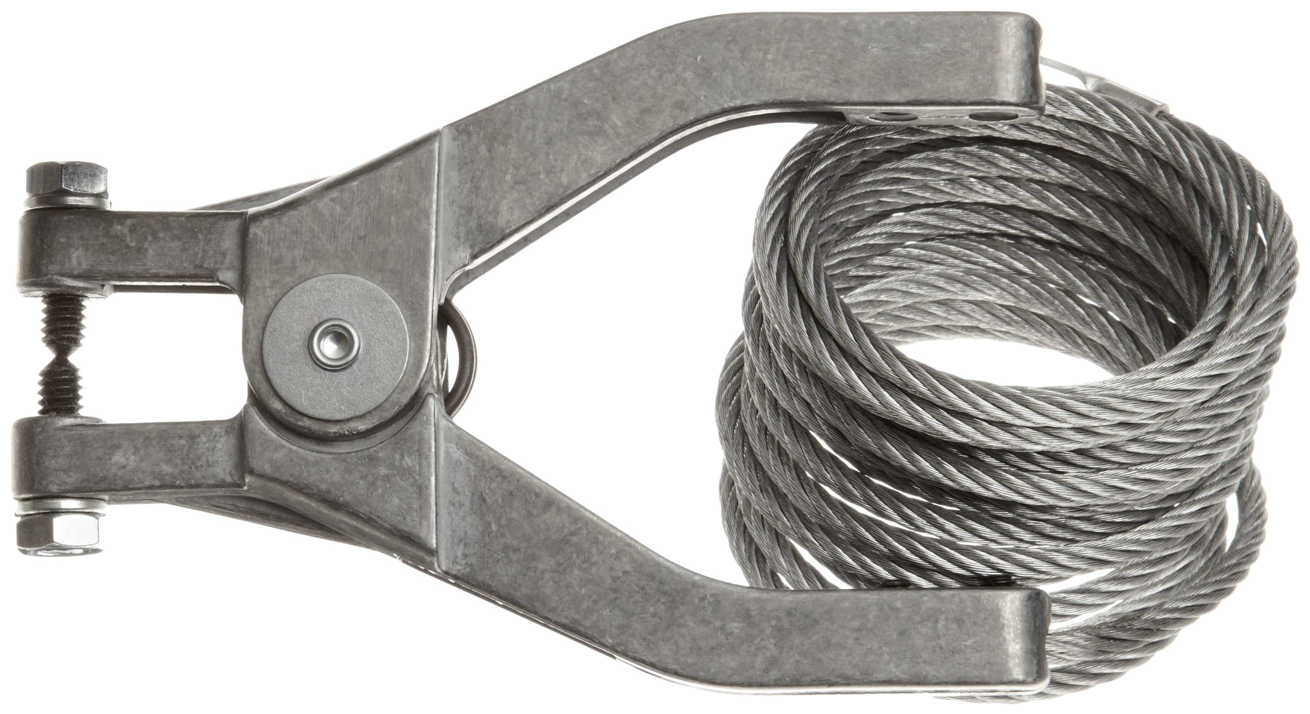 Justrite 08496 10' Long Flex Wire With Hand Clamp And 1/4'' Terminal
