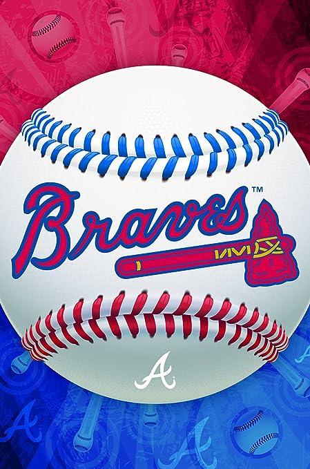 "Trends International Atlanta Braves Logo Wall Posters, 22"" by 34"""