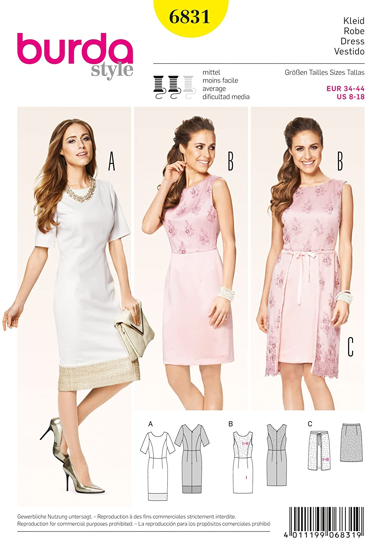 Burda Schnittmuster Kleid 6831: Amazon.de: Küche & Haushalt
