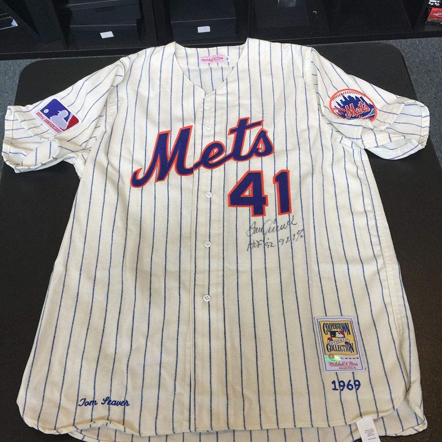 new arrival 702c1 4707a Tom Seaver Autographed Jersey - Beautiful HOF 92 98 8% Votes ...