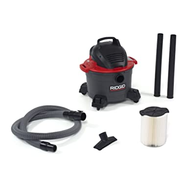 RIDGID 50308 6000RV Portable Wet Dry Vacuum, 6-Gallon Shop Vacuum with 4.25 Peak HP Motor, Casters, Pro Hose, Blower Port, Accessory Storage