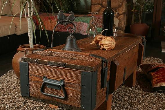 Propio diseño rústico mesa de café de madera pino pecho tronco caja ...