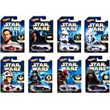 Hot Wheels Star Wars 2015 Exclusive Bundle of 8 Die-Cast Vehicles, 1:64 Scale